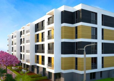 """Многофамилна жилищна сграда с подземен гараж, ул. """"21-ви век"""""""